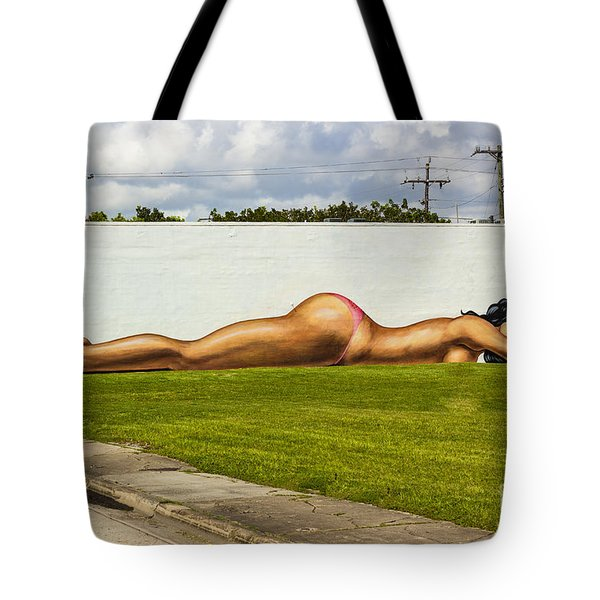 Naked In The Park Tote Bag