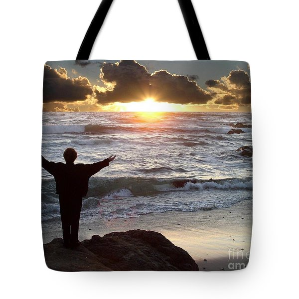 Namaste The Day Tote Bag