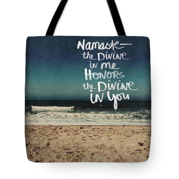 Namaste Waves  Tote Bag