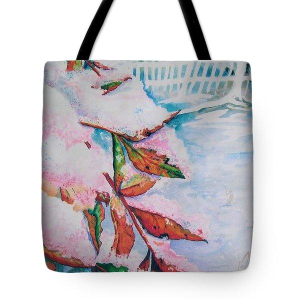 Nandina In Snow Tote Bag