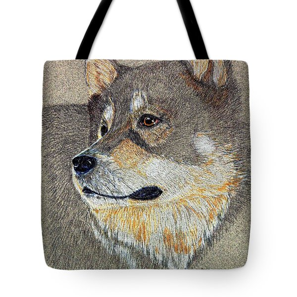 Tote Bag featuring the drawing Nanook by Stephanie Grant