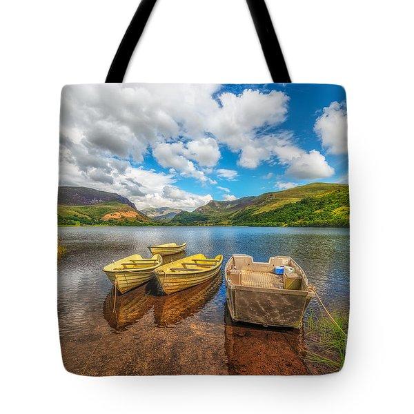 Nantlle Lake Tote Bag by Adrian Evans