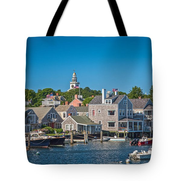 Nantucket Town Tote Bag