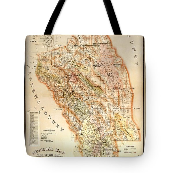 Napa Valley Map 1895 Tote Bag
