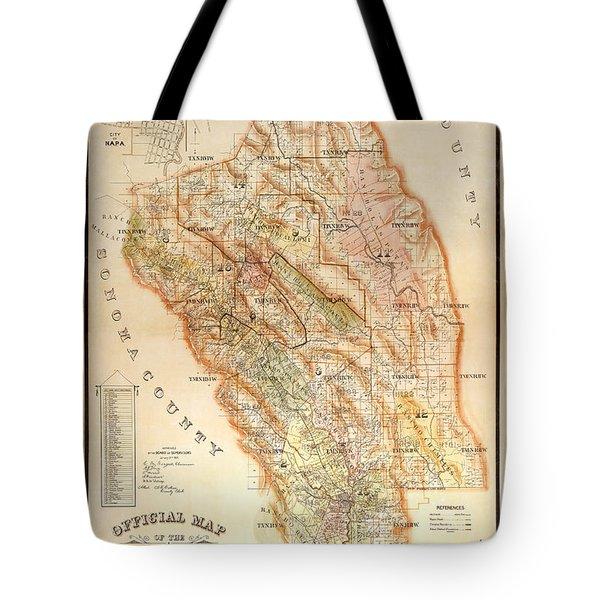 Napa Valley Map 1895 Tote Bag
