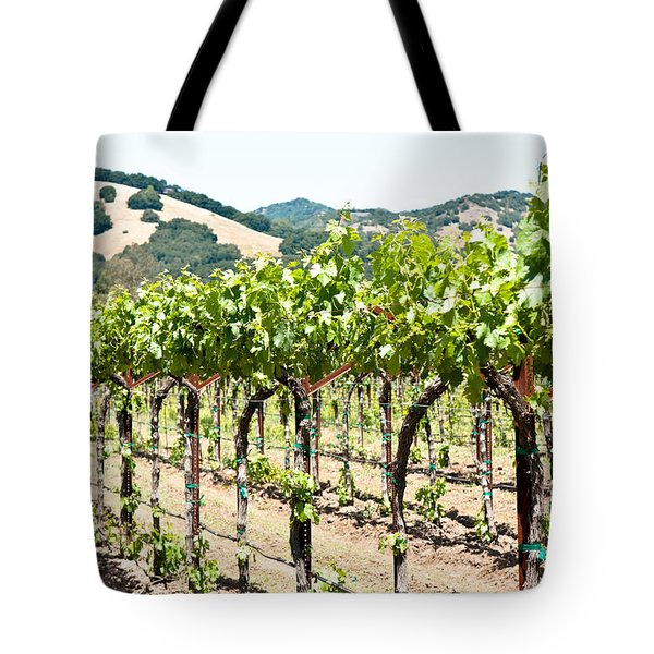 Napa Vineyard Grapes Tote Bag