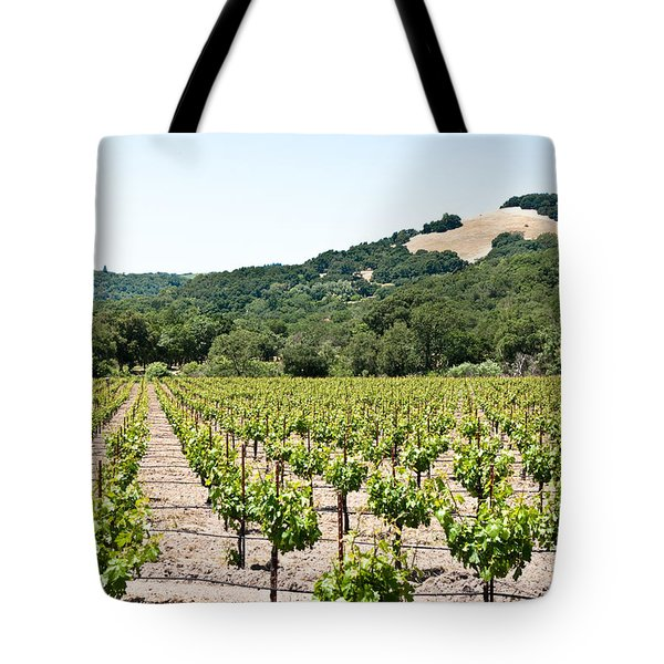 Napa Vineyard With Hills Tote Bag