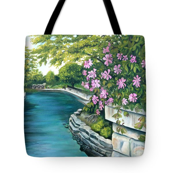 Naperville Riverwalk Tote Bag