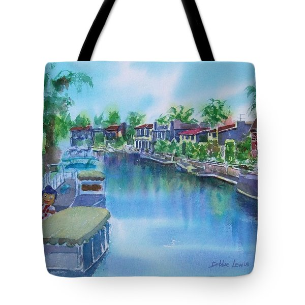 Tote Bag featuring the painting Naples Island Late Afternoon Impression by Debbie Lewis