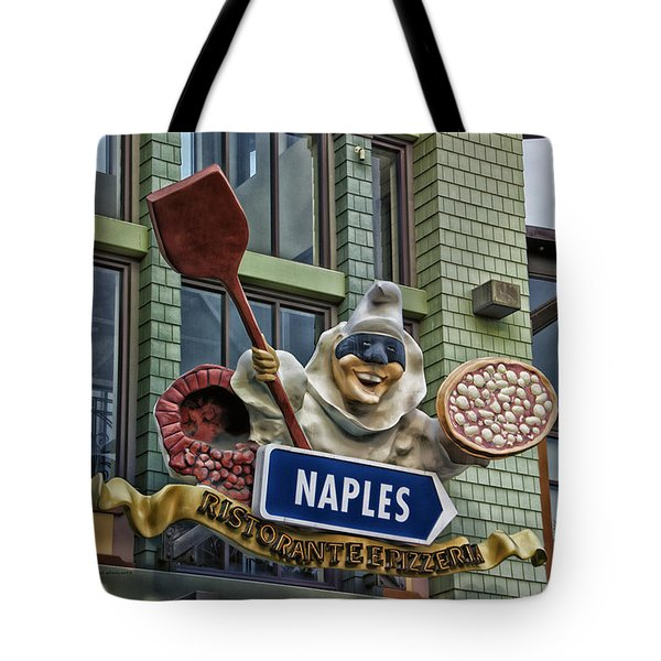 Naples Pizzeria Signage Downtown Disneyland Tote Bag by Thomas Woolworth