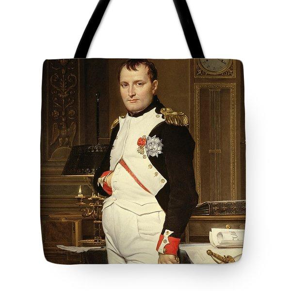 Napoleon Bonaparte In His Study Tote Bag