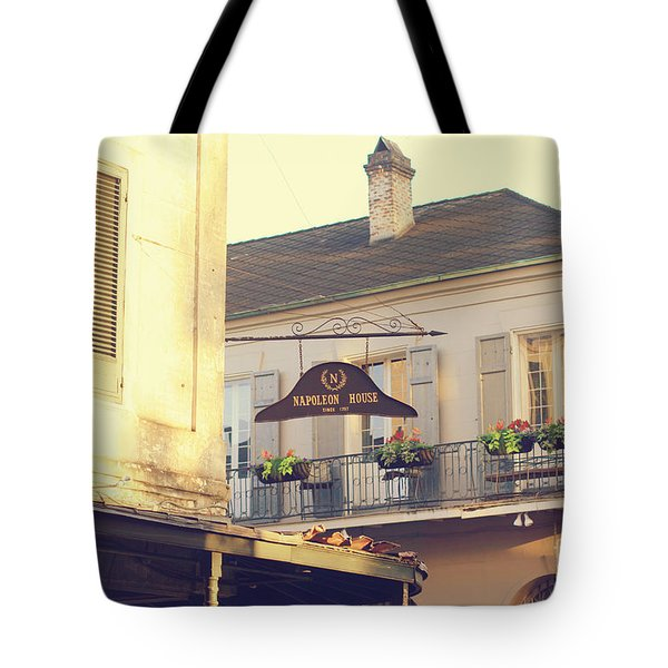 Tote Bag featuring the photograph Napoleon Corner by Heather Green