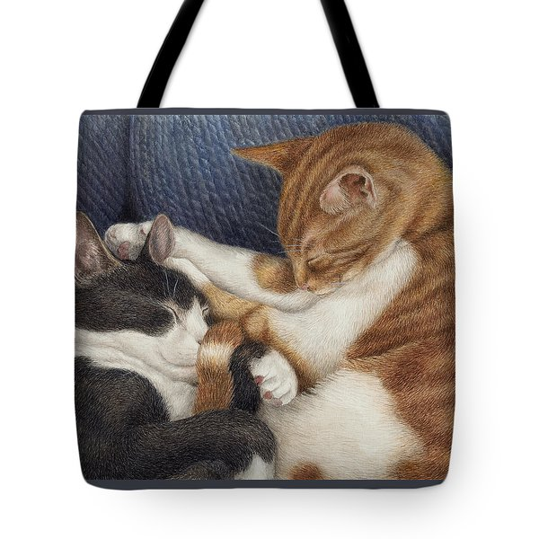 Tote Bag featuring the painting Naptime by Pat Erickson