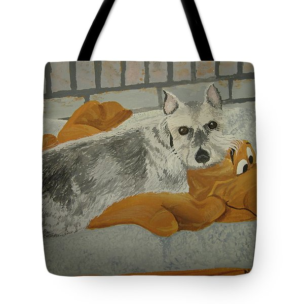 Naptime With My Buddy Tote Bag by Norm Starks