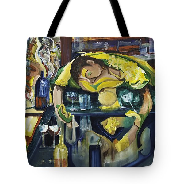 Narcisisstic Wine Bar Experience - After Caravaggio Tote Bag