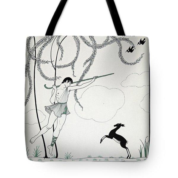 Narcisse Tote Bag by Georges Barbier
