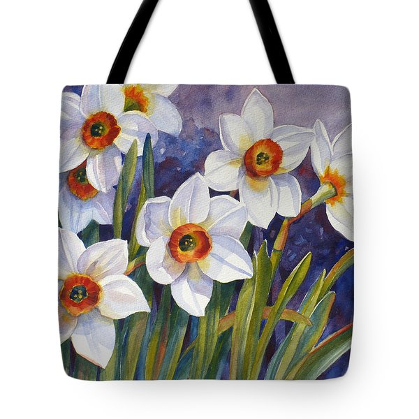 Narcissus Daffodil Flowers Tote Bag