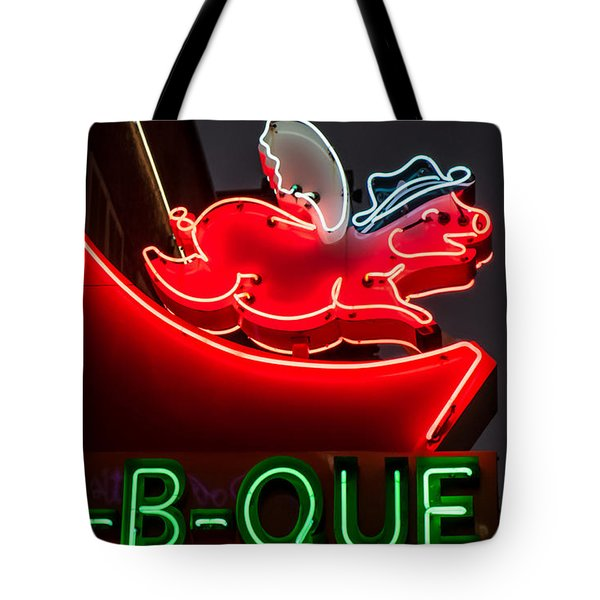 Tote Bag featuring the photograph Nashville Bbq by Glenn DiPaola