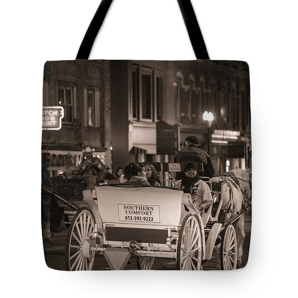 Nashville Carriage Ride Tote Bag by John McGraw