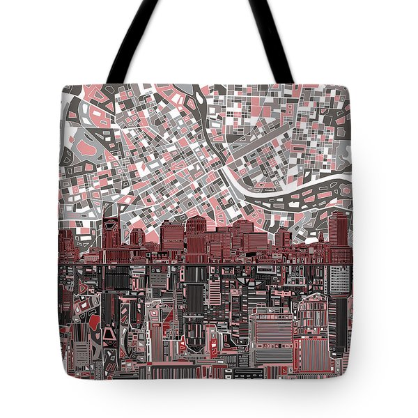 Nashville Skyline Abstract 3 Tote Bag