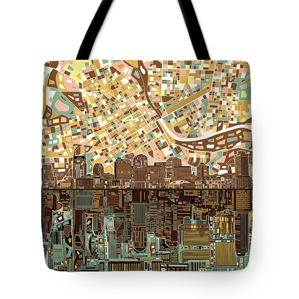 Nashville Skyline Abstract 4 Tote Bag