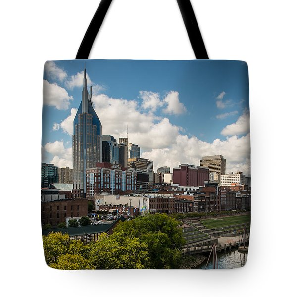 Tote Bag featuring the photograph Nashville Skyline by Glenn DiPaola