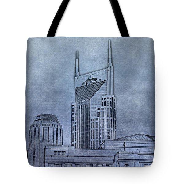 Nashville Skyline Sketch Tote Bag by Dan Sproul