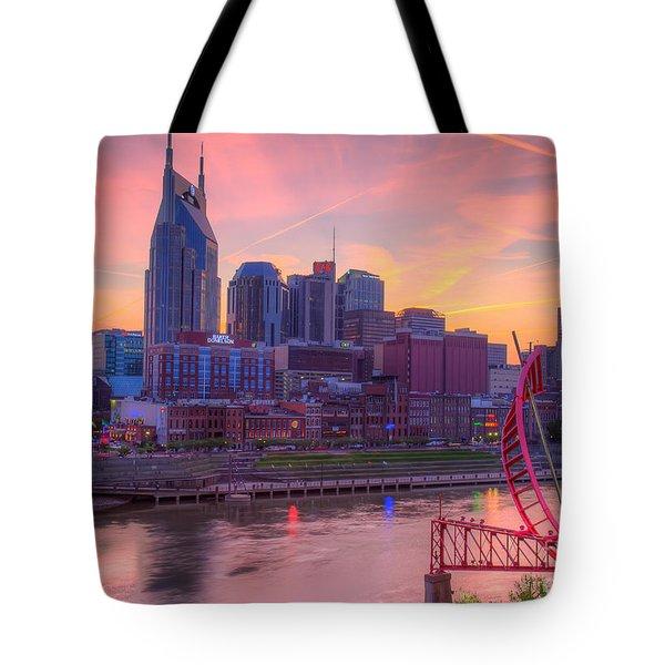 Nashville Sunset Tote Bag