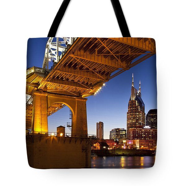 Nashville Tennessee Tote Bag by Brian Jannsen