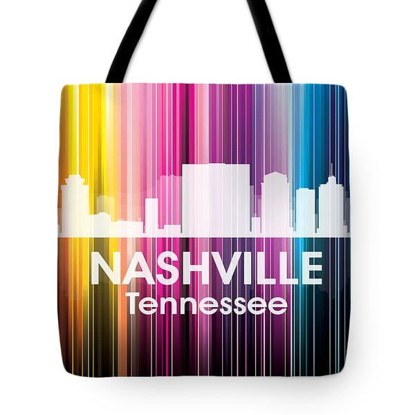 Nashville Tn 2 Tote Bag by Angelina Vick