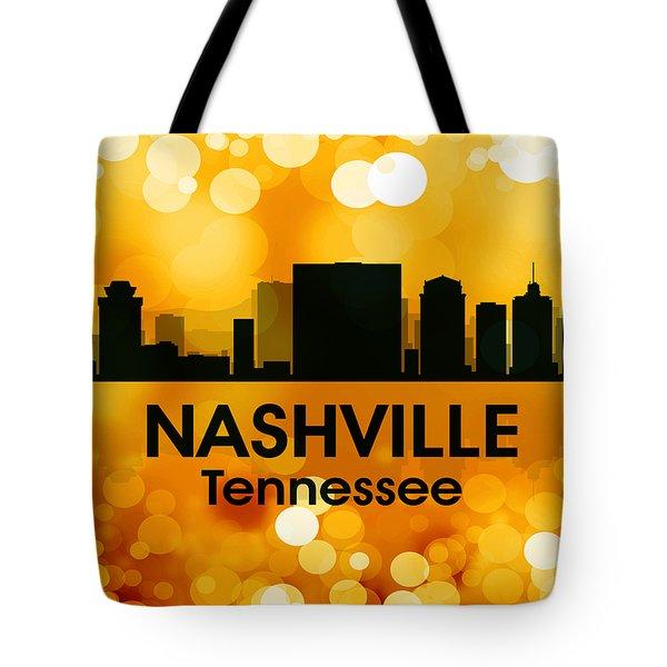 Nashville Tn 3 Tote Bag by Angelina Vick