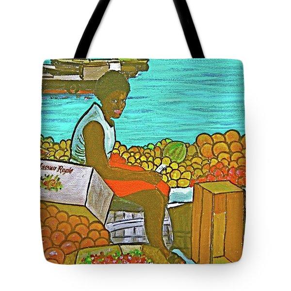 Nassau Fruit Seller Tote Bag by Frank Hunter