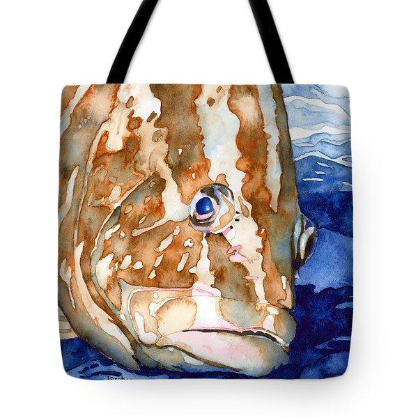 Nassau Grouper Portrait Tote Bag