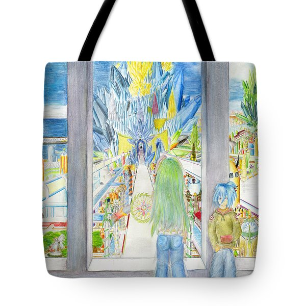 Tote Bag featuring the painting Nastros by Shawn Dall