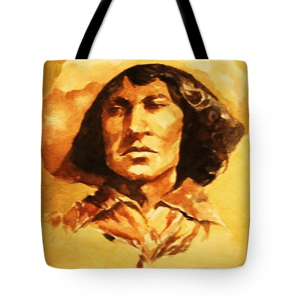 Nat Love Bronc Buster Tote Bag