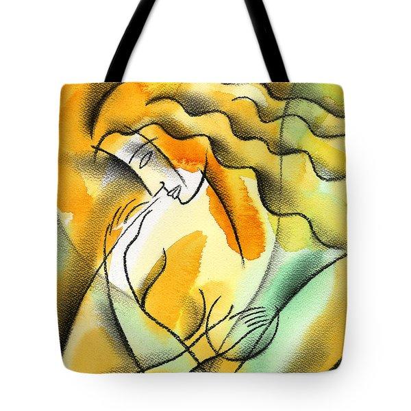 Woman Healthcare. Breast Examination. Tote Bag