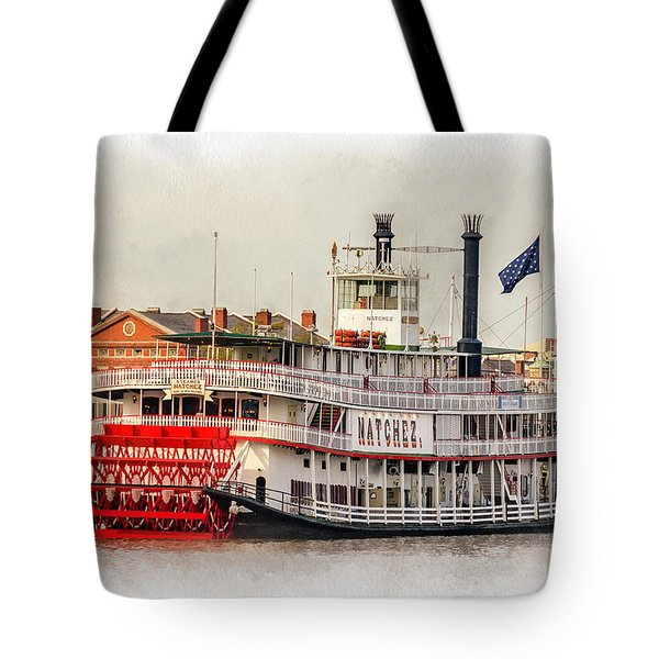 Natchez Sternwheeler Paint Tote Bag