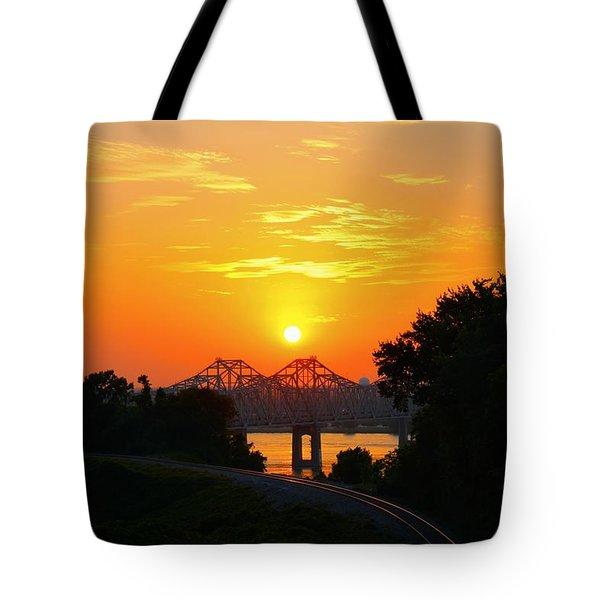 Natchez Sunset Tote Bag