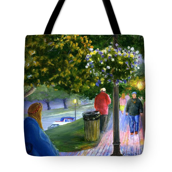 Natchitoches Front Street Cane River Tote Bag by Lenora  De Lude