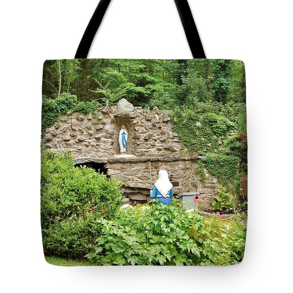 National Shrine Grotto Of Our Lady Of Lourdes Tote Bag