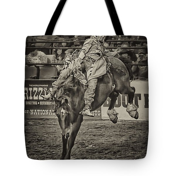 National Stock Show Bare Back Action Tote Bag