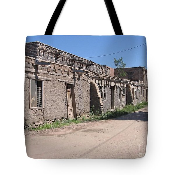 Tote Bag featuring the photograph Native American Adobe Pueblo by Dora Sofia Caputo Photographic Art and Design