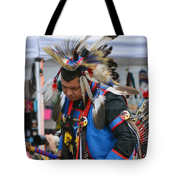 Tote Bag featuring the photograph Native American Dancer by Kathy Baccari