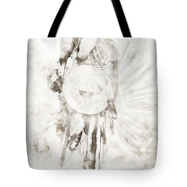 Tote Bag featuring the digital art Native American by Erika Weber