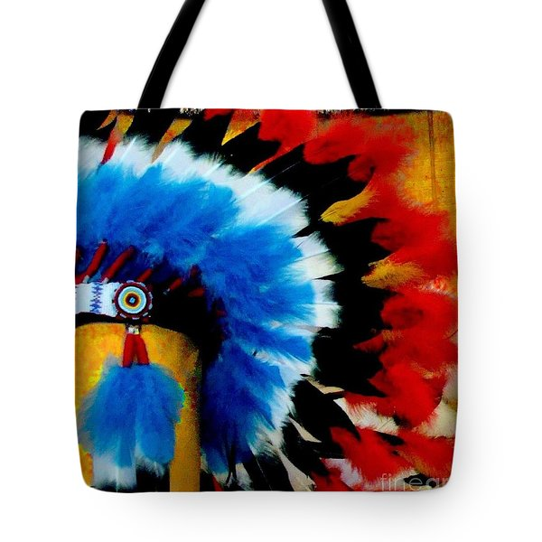 Native American Headdress Tote Bag