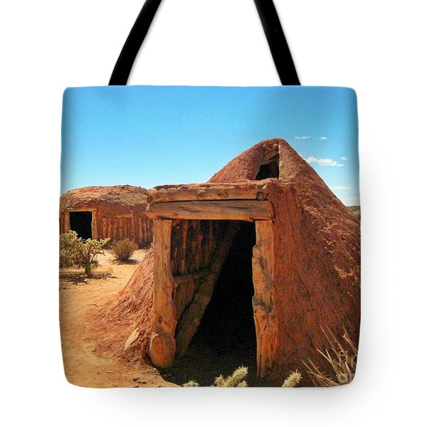 Native American Shelters Tote Bag by John Malone