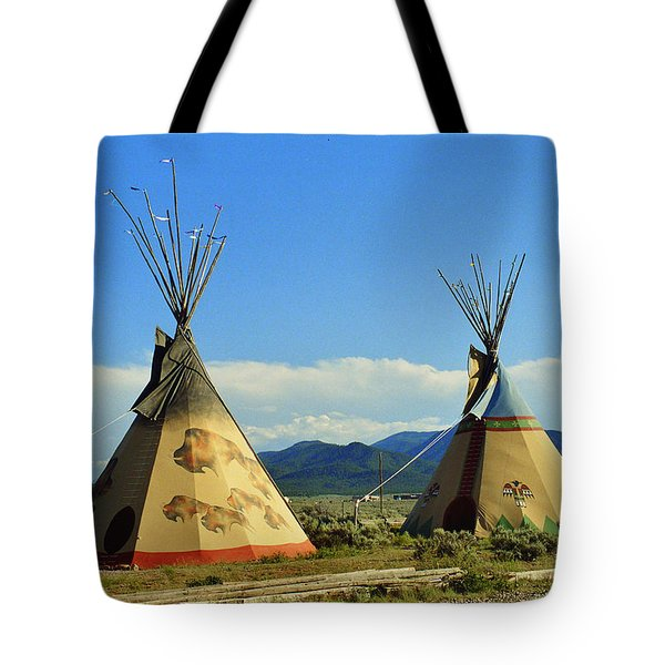 Native American Teepees  Tote Bag by Dora Sofia Caputo Photographic Art and Design