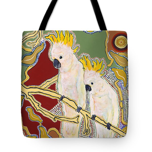 Native Aussies Tote Bag by Pat Saunders-White