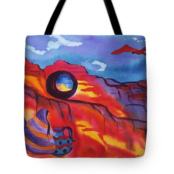 Native Women At Window Rock Tote Bag