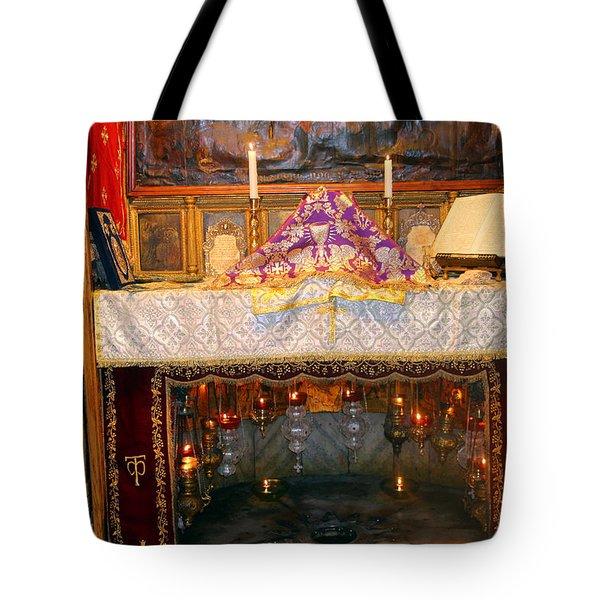 Nativity Grotto Tote Bag